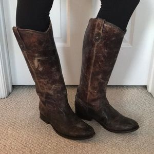 Frye Melissa Button Chocolate Boots